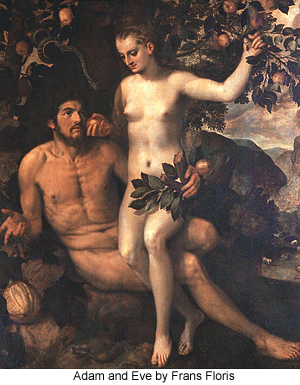 Adam and Eve by Frans Floris