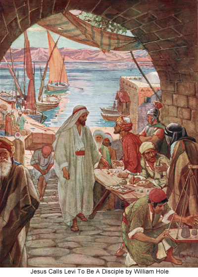 Jesus Calls Levi To Be A Disciple by William Hole