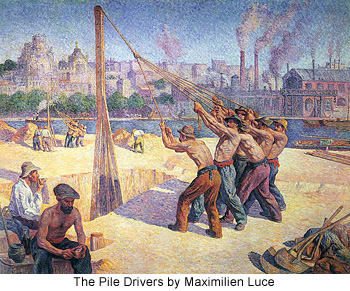 The Pile Drivers by Maximilien Luce