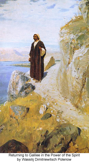Returning to Galilee in the Power of the Spirit by Wassilij Dimitriewitsch Polenow