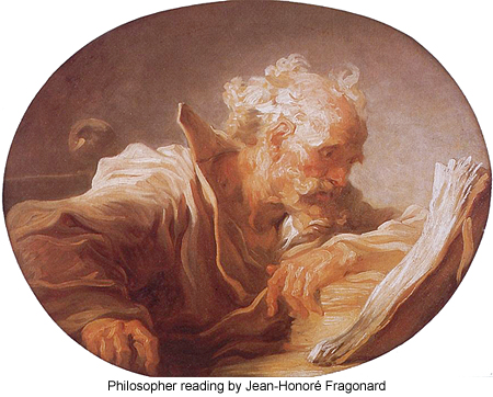 Philosopher Reading by Jean-Honore Fragonard
