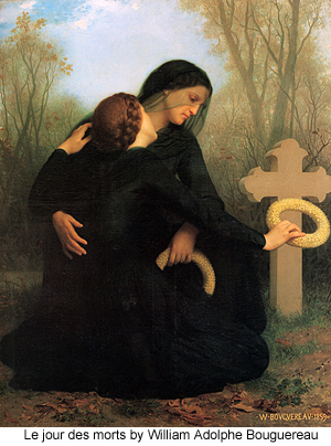 Le Jour Des Morts by William Adolphe Bouguereau