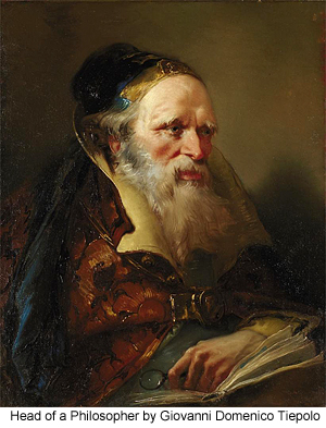 Head of a Philosopher by Giovanni Domenico Tiepolo